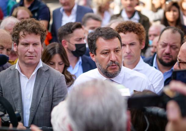 Matteo Salvini a varese Matteo Bianchi