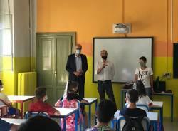 """Scuola a Saronno, il saluto del sindaco Airoldi e dell'assessore Musarò agli studenti della """"Leonardo da Vinci"""""""