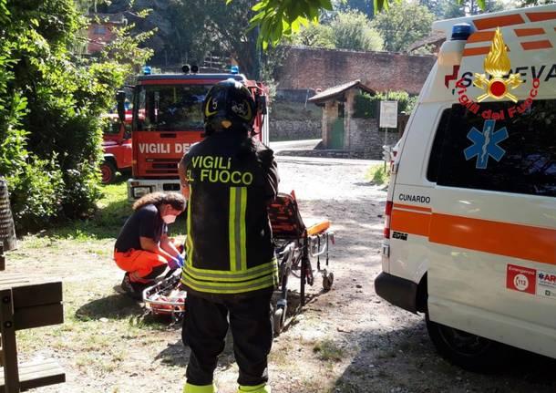 soccorso orrido cunardo ferrera vigili del fuoco