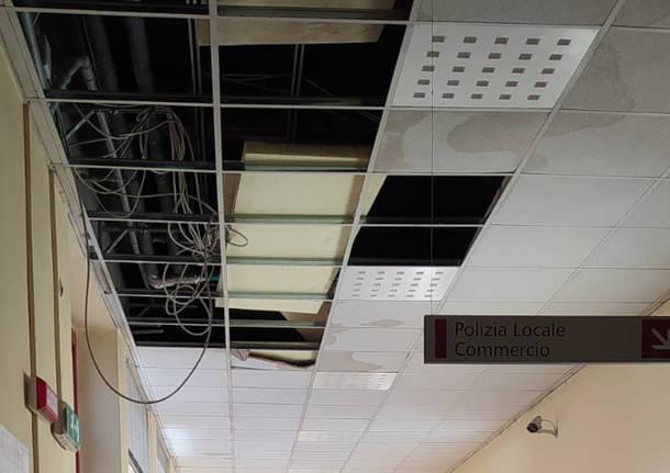 soffitti crollati in comune a san giorgio