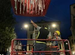 Una nuova installazione aerea per la Varese Design Week