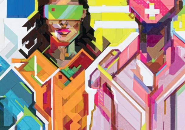 Time to Start a Varese, le opere degli artisti affisse su muri e pensiline