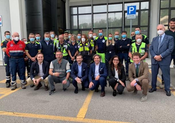 Vedano Olona - L'assessore regionale Foroni in visita al Centro emergenze delle Fontanelle