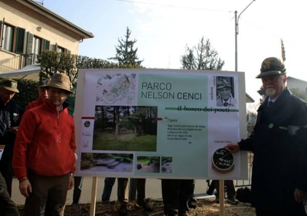 """Il """"Bosco dei poeti"""" nel parco Nelson Cenci"""