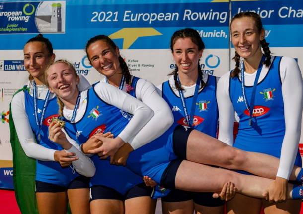 canottaggio quattro con junior femminile gavirate oro europei - foto Carbonara - Canottaggio.org