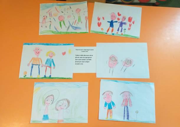 I disegni degli alunni di Malnate per la Festa dei Nonni