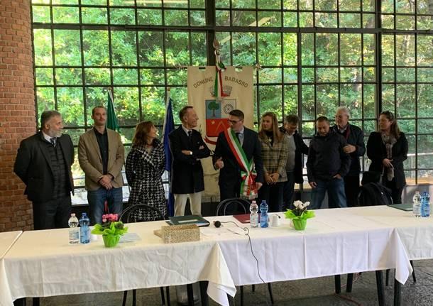 Il consiglio comunale di Barasso e il sindaco Lorenzo Di Renzo Scolari