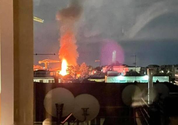 incendio centro gallarate