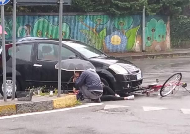 incidente cicilista bicicletta
