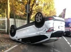 Incidente in via Roma a San Vittore Olona