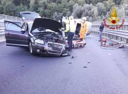 Incidente sul cavalcavia infondo alla tangenziale di Varese