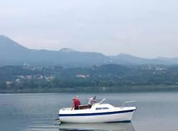 La barca elettrica sul Lago di Varese
