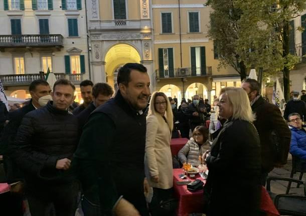 La chiusura della campagna elettorale del centrodestra a Varese