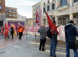 Manifestazione Cobas a Varese