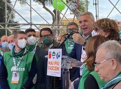Manifestazione di Cgil, Cisl e Uil a Roma