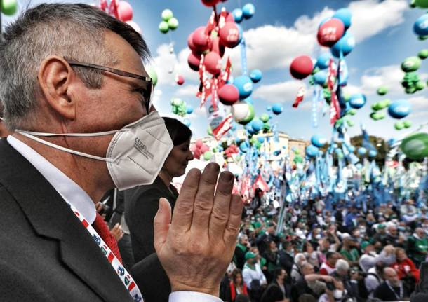 La manifestazione del sindacato a Roma