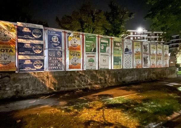 manifesti lega campagna elettorale busto arsizio 2021