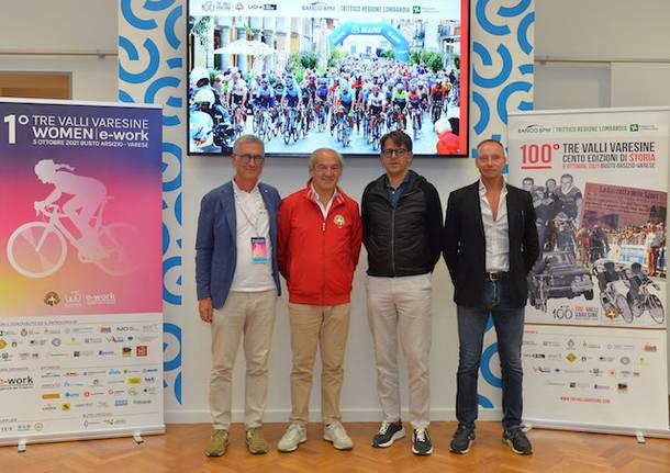 presentazione 100a tre valli varesine ciclismo