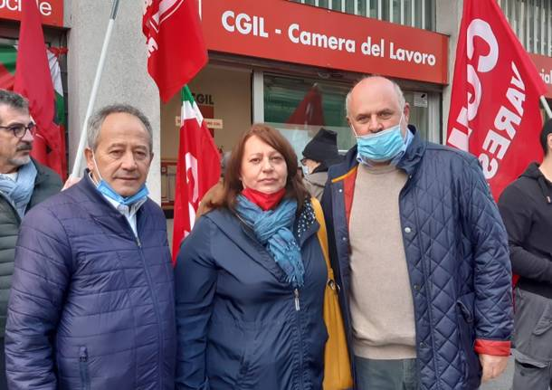 Presidi nelle sedi Cgil di Varese Busto Gallarate e Saronno