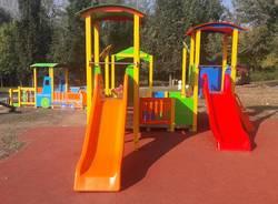 Quasi terminata l'installazione dei giochi inclusivi al Parco degli Aironi di Gerenzano