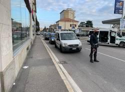 Scontro tra auto e moto in via Ferrario a Gallarate (9.10.21)