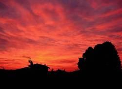 Un'alba da dipinto sopra Varese