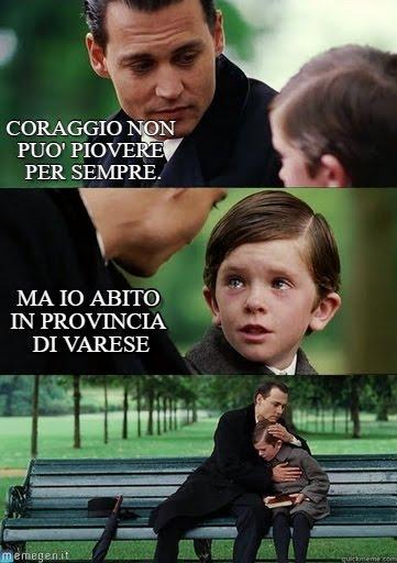 meme Varese pioggia