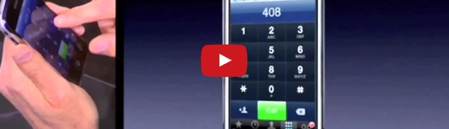 La presentazione del primo iPhone