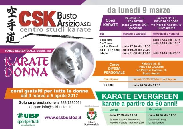 CSK -il programma dei corsi donna 2017