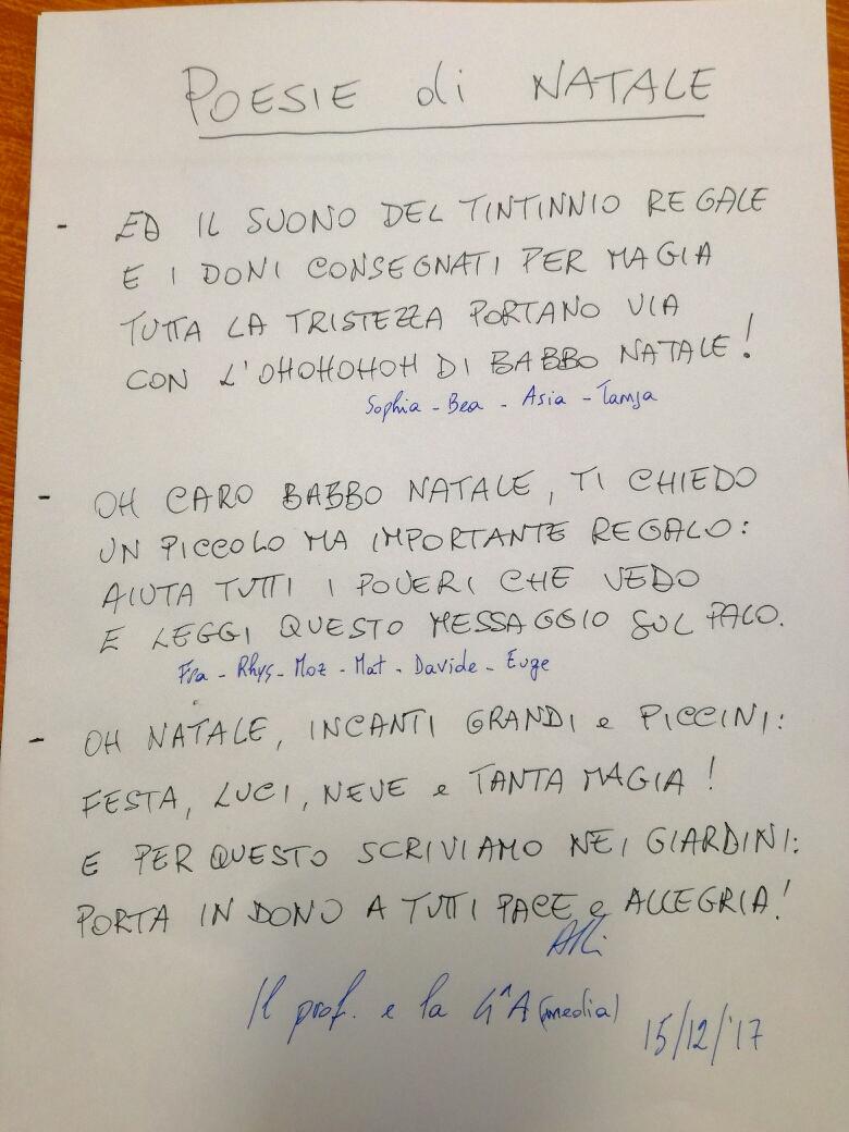 Madre Teresa Di Calcutta Poesie Natale.Poesie Di Natale In Giro Per Lugano Grazie Ad Un Prof Varesino